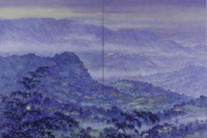 Amanecer : Oleo sobre tela : 120 x 180 cms