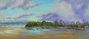 Amazonas : Oleo sobre tela : 35 x 180 cms
