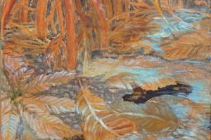 Underwater Oil on canvas 34 x 34 cm