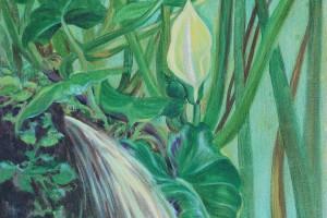 Bajo las hojas - Oleo sobre tela - 40 x 40cm