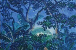 Cantan los grillos - Oleo sobre tela - 34 x 34 cm
