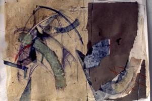 Catedral de Asis : Collage sobre papel : 27 x 40 cms