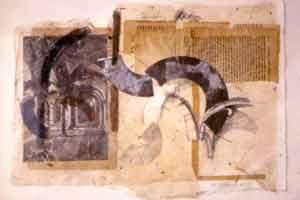Catedral de Strasburgo : Collage sobre papel : 27 x 40 cms