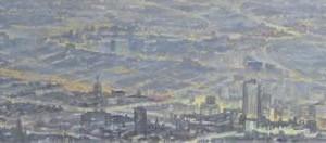 Ciudades vulnerables : Oleo sobre tela : 35 x 160 cms