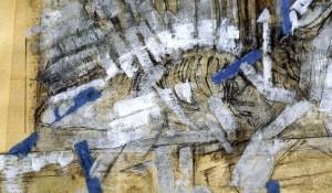 De la serie- Mapas de ciudad : Collage sobre papel : 22 x 28 cms