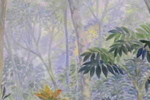 Entre el bosque : Oleo sobre tela : 110 x 70 cms