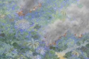 Fuego ! : Oleo sobre tela : 160 x 80 cms