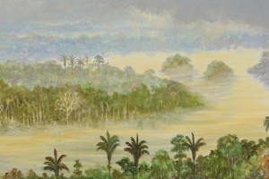 Drizzle Oil on canvas 30 x 150 cm