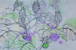Lulo del Sumapaz Tinta y Ebru sobre papel 30 x 60 cm