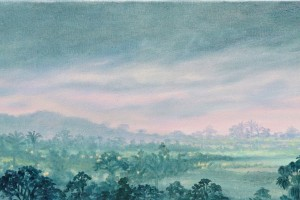 Dawn oil on canvas 27 x 180 cm
