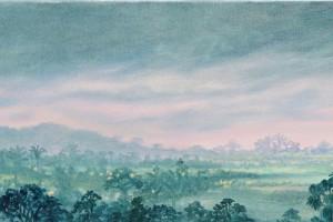 Mientras Amanece - Oleo sobre tela - 27 x 180 cms