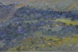 Millones de pisadas : Oleo sobre tela : 80 x 160 cms
