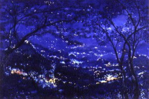 Noche : Oleo sobre tela : 120 x 180 cms