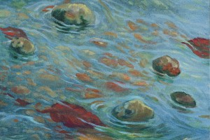 Pasa el agua - Oleo sobre tela - 40 x 40 cm