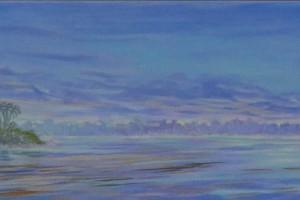 Putumayo river Oil on canvas 27 x 207 cm