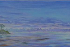 Rio Putumayo - Oleo sobre tela - 27 x 207 cm