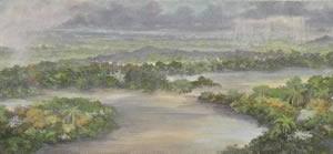 Rios y Selva : Oleos sobre tela : 35 x 160 cms