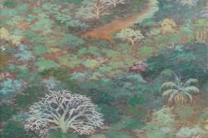 Taninos del agua - Oleo sobre tela - 40 x 40 cm